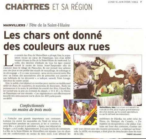 revue de presse 2008 fête saint Hilaire